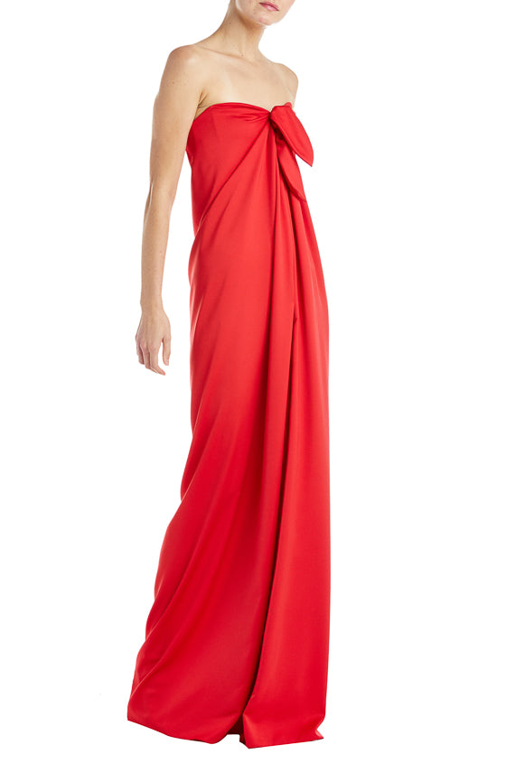 Monique Lhuillier Red Gown Fall 2019