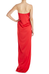 Strapless Red RTW Gown Fall 2019