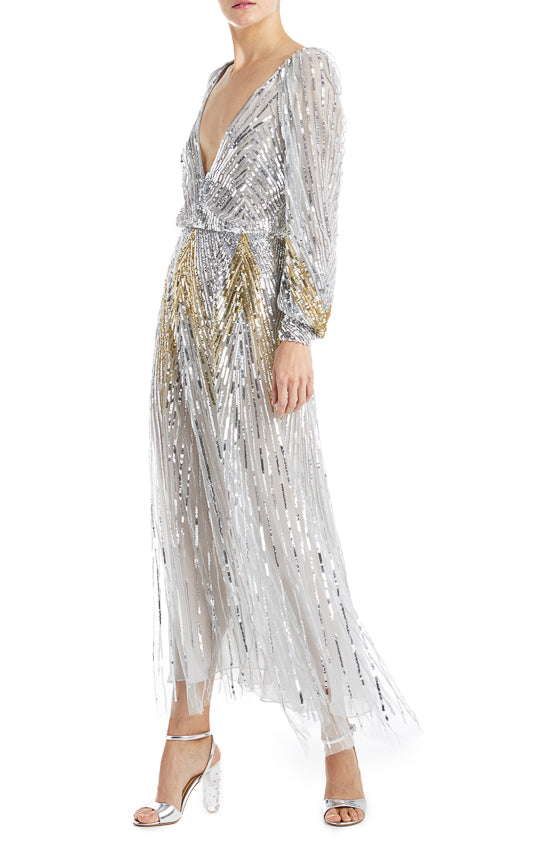 Fall 2019 Evening Gown Silver
