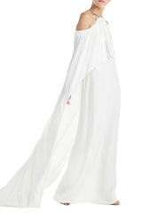 Fall 19 White Gown Monique Lhuillier