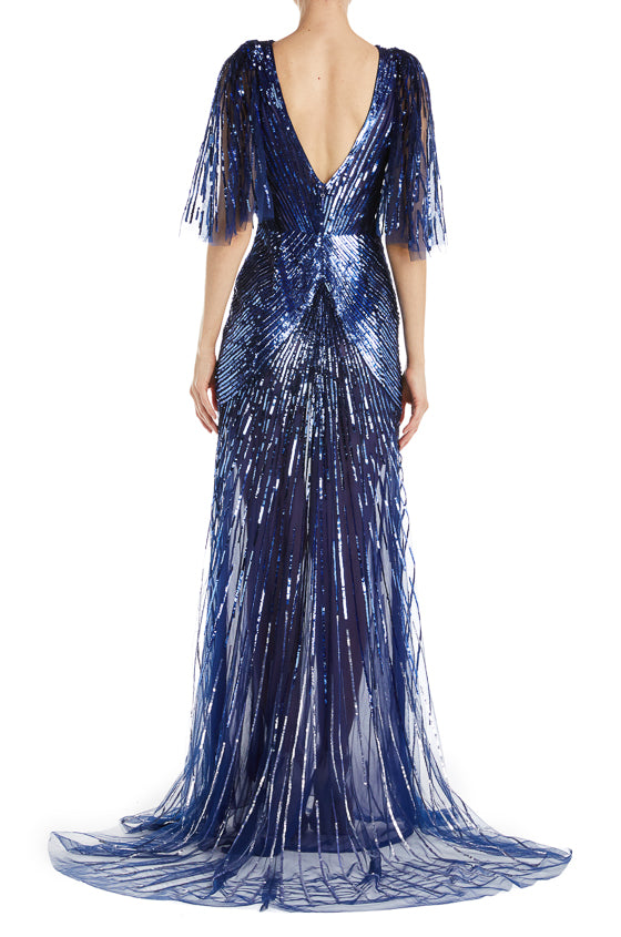 RTW Fall 2019 Evening V Neck Gown