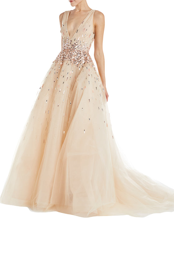 Monique Lhuillier Evening Gown Blush