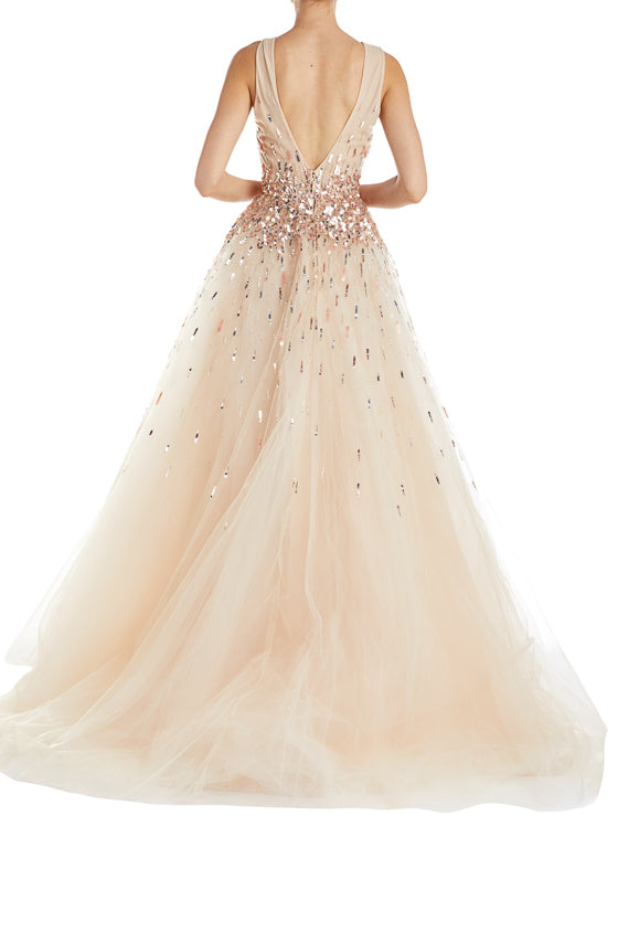 Blush Sequins Ball Gown ML