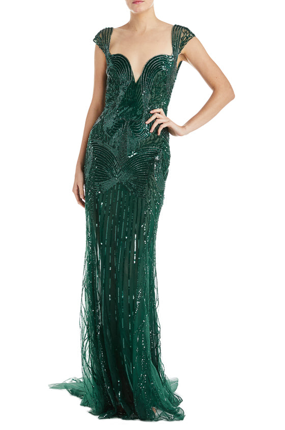 Emerald Mermaid Gown