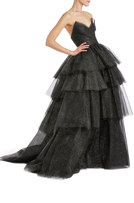Black Tulle Ball Gown Fall 2019 Monique Lhuillier