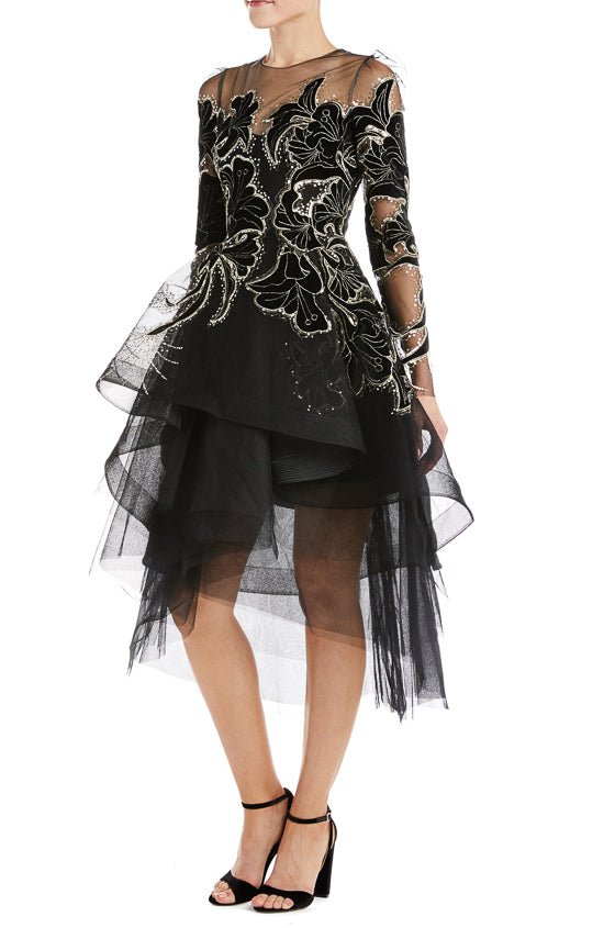 Fall 2019 Black Tulle Dress