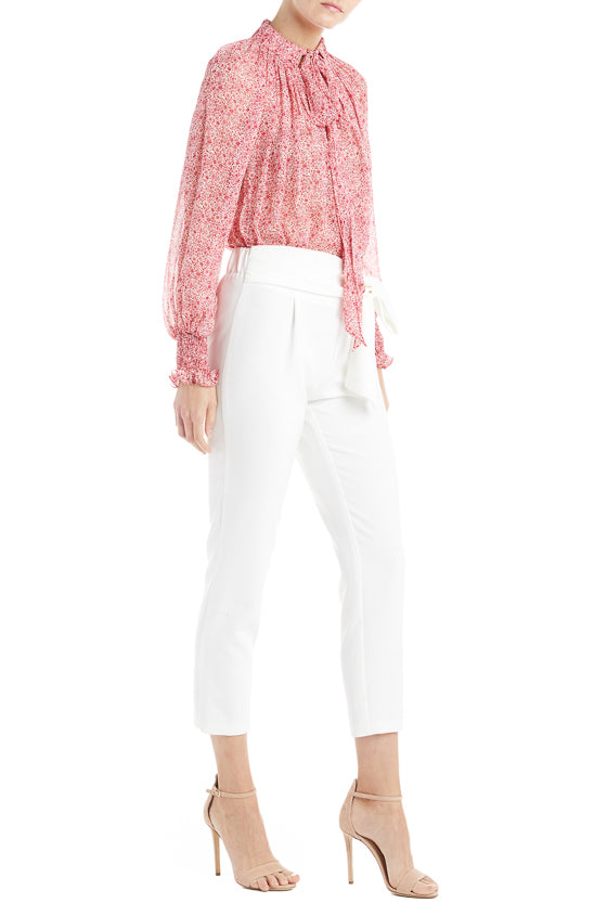 White Trouser Monique Lhuillier Spring