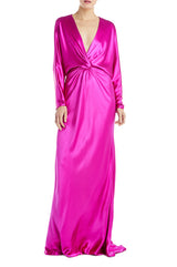 Fuchsia Long Sleeve Gown