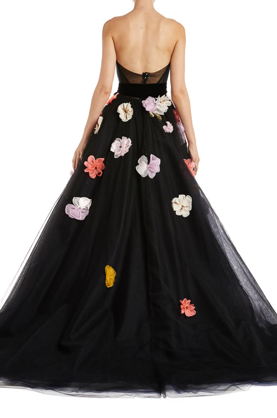 Monique Lhuillier Tulle Ball Gown Fall 2019