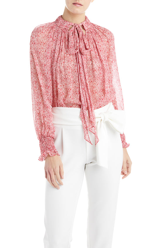 ML Monique Lhuillier Pink Blouse