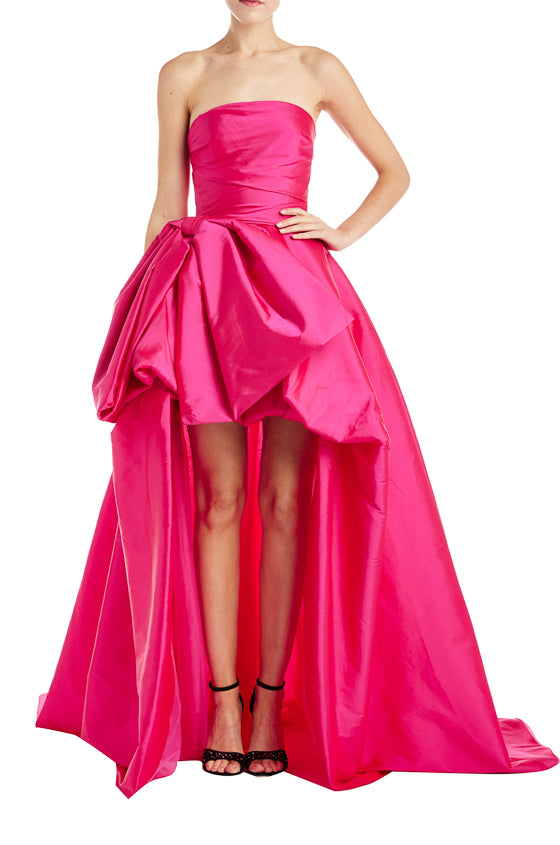 high-low pink gown