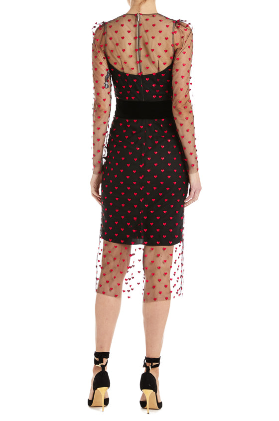 Black Sheath Dress Monique Lhuillier