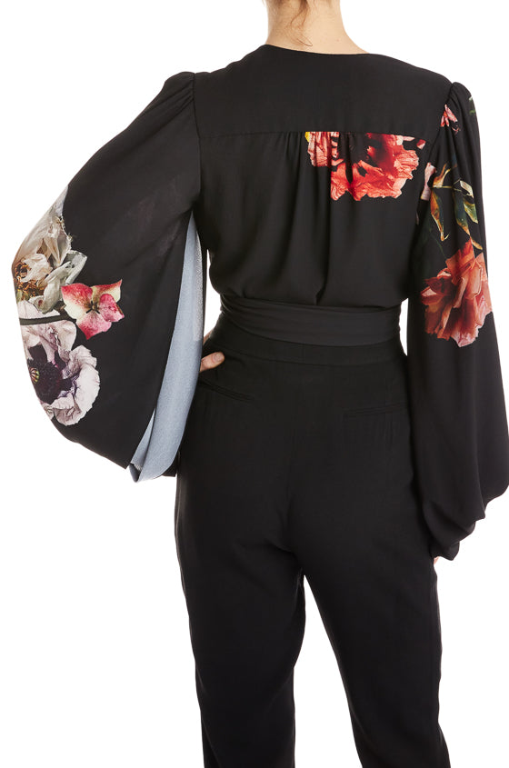 Fall 2019 RTW Top Black Floral