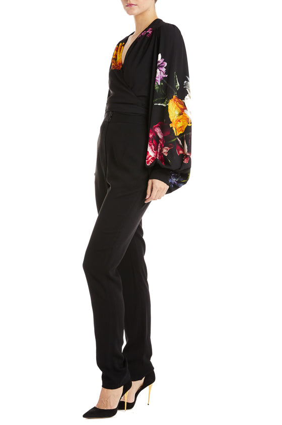 Monique Lhuillier Black Tapered Trouser