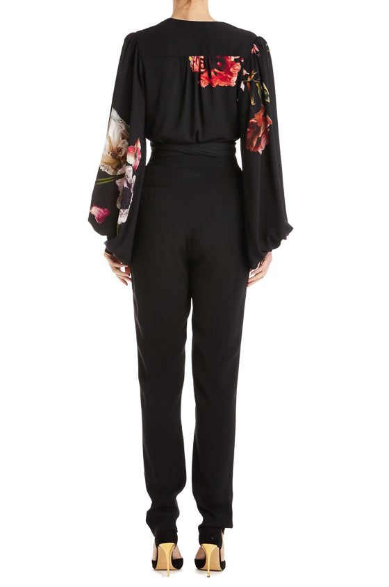 Black high waisted pant monique lhuillier