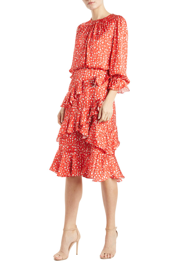 MLML printed ruffle dress
