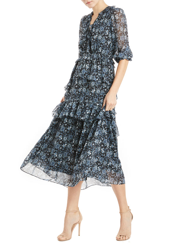 Fall 2019 floral dress ruffles