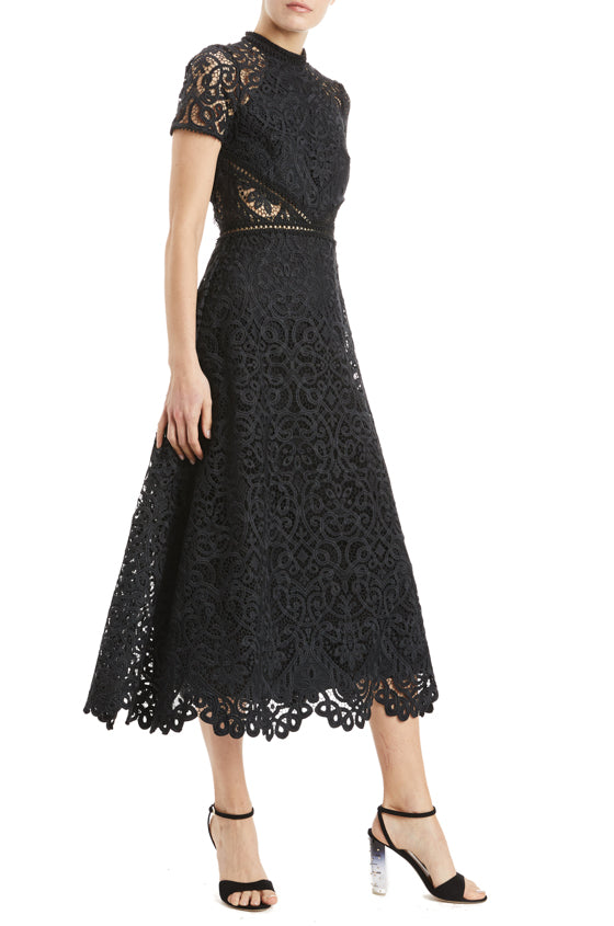 MLML Lace Dress with semi sheer side panels