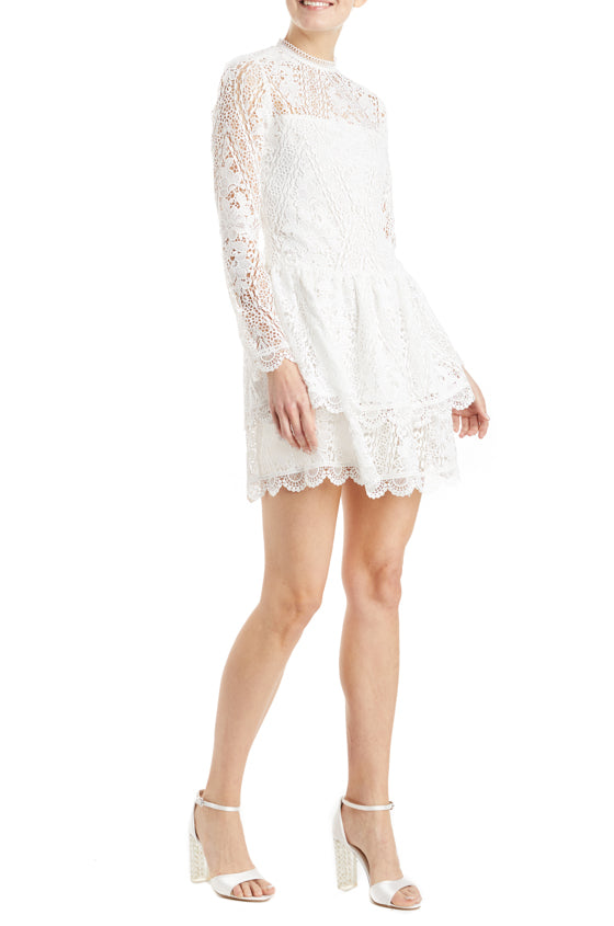 Monique Lhuillier lace mini dress