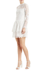 Fall 2019 lace dress white