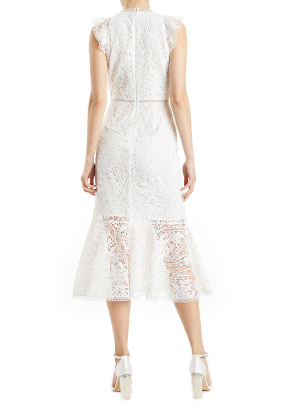 Fall 2019 Bridal Cocktail Dress White lace
