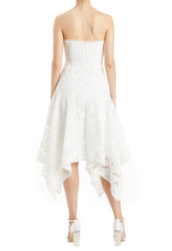 white lace dress bridal