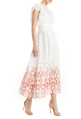 MLML white lace midi dress