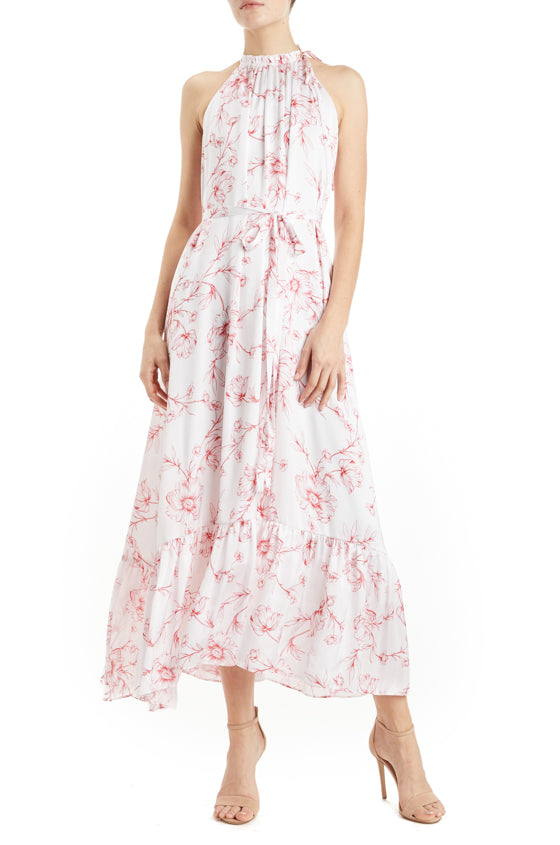 ML Monique Lhuillier Printed Maxi Dress- FINAL SALE