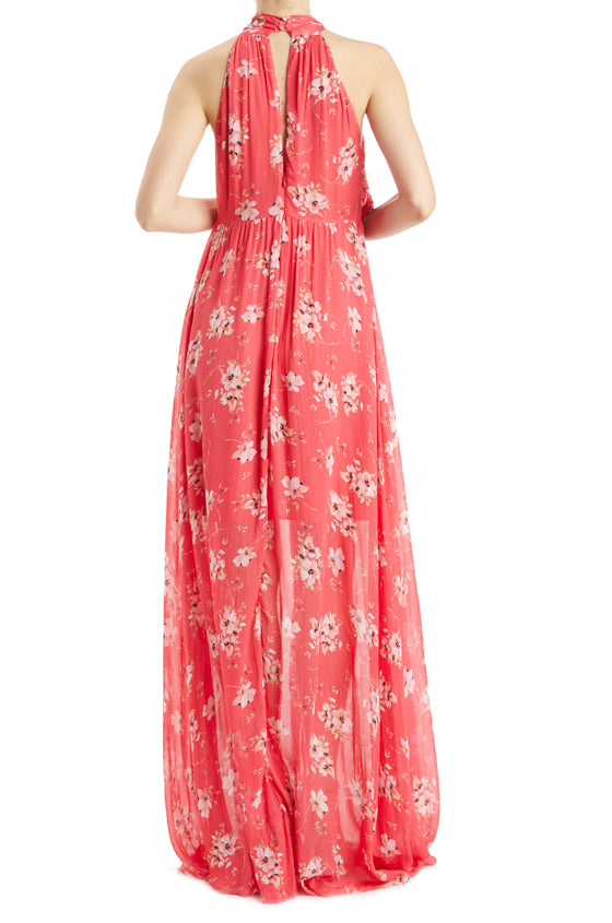 ML Monique Lhuillier Floral Gown