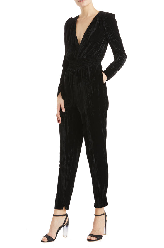 Long sleeve jumpsuit with pockets