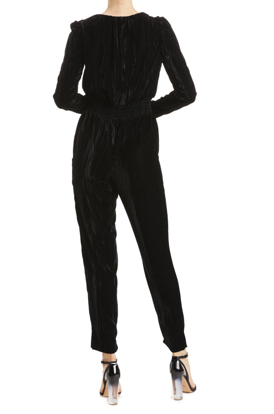 Fall 2019 Velvet Jumpsuit with sleeves