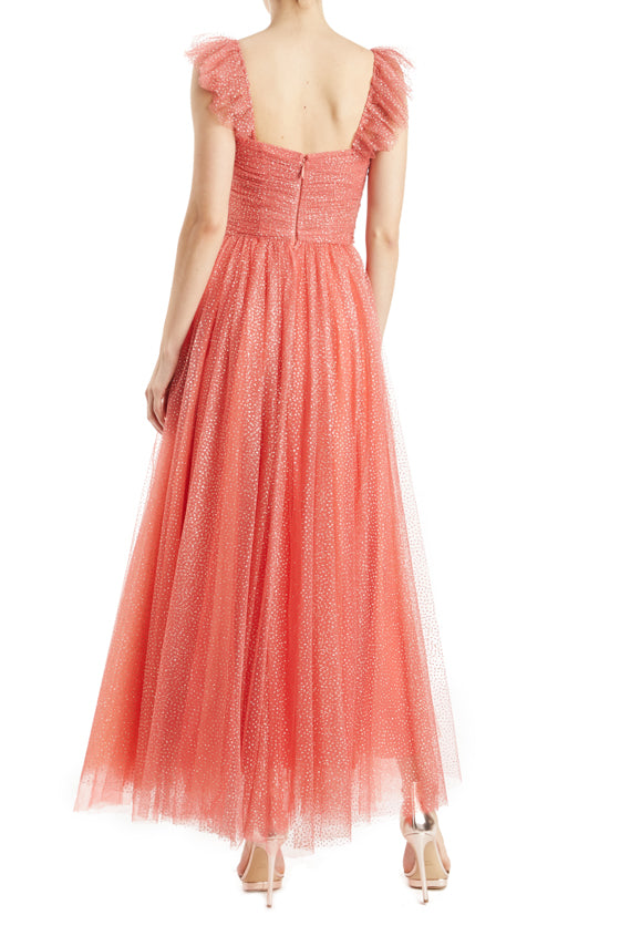 Coral and Gold Monique Lhuillier Dress