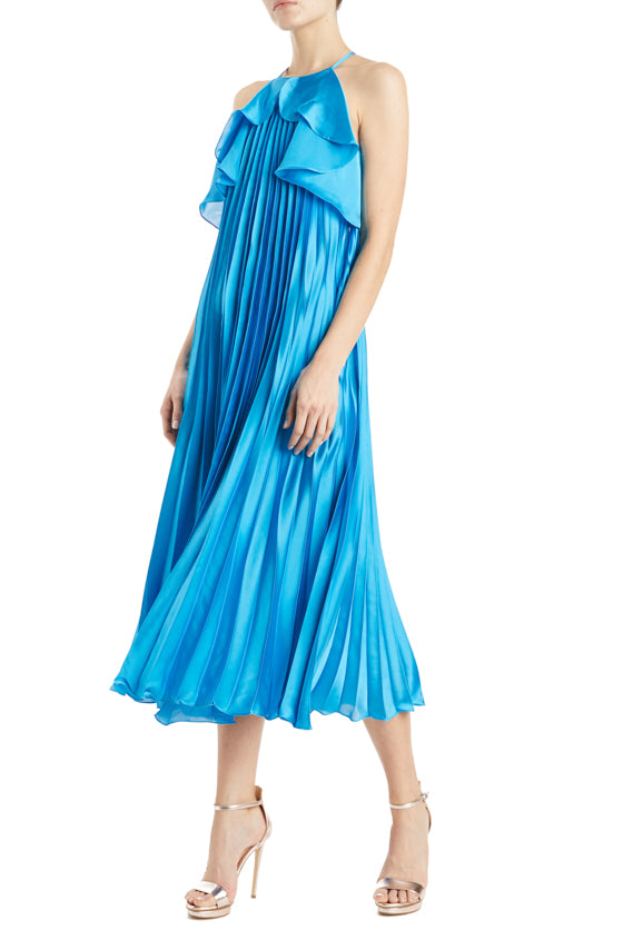 Pleated MLML Blue Dress