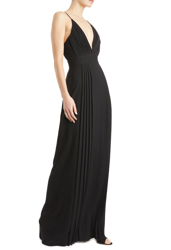Fall 2019 Black Gown with spaghetti straps