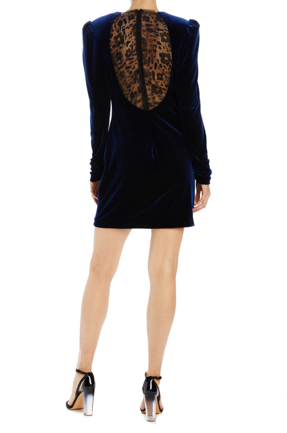 Velvet and lace dress long sleeve
