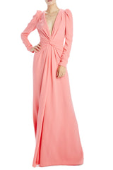 Salmon long sleeve gown