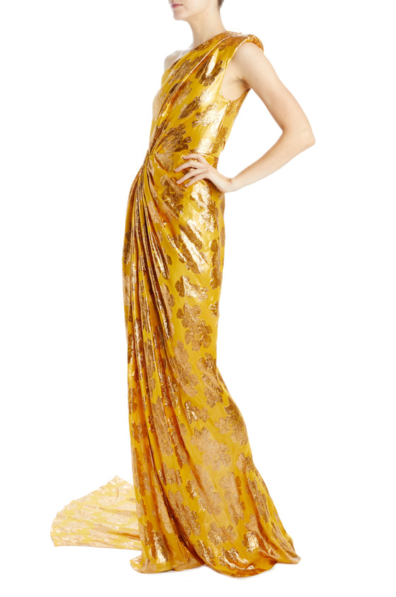 Monique Lhuillier printed evening gown