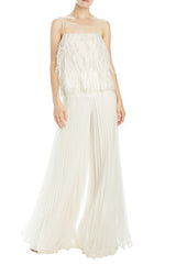 Monique Lhuillier pleated organza pant