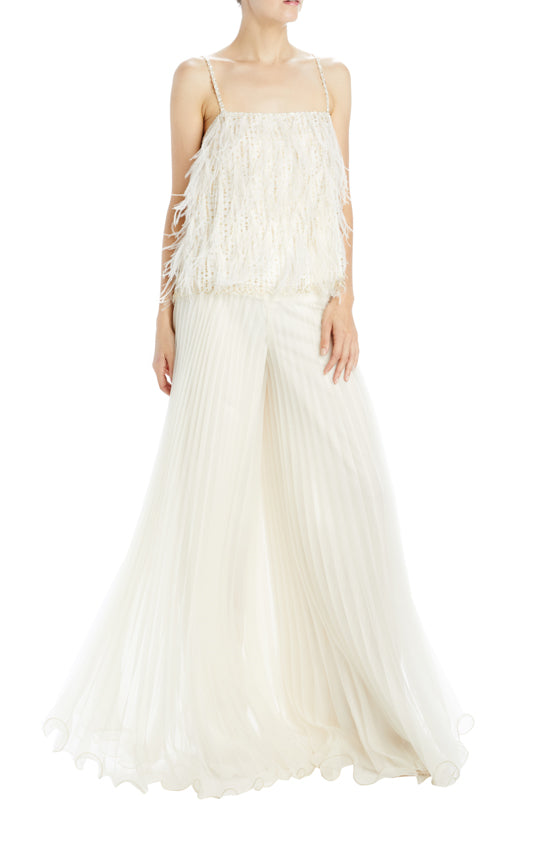 Spring 20 pleated wide leg pant
