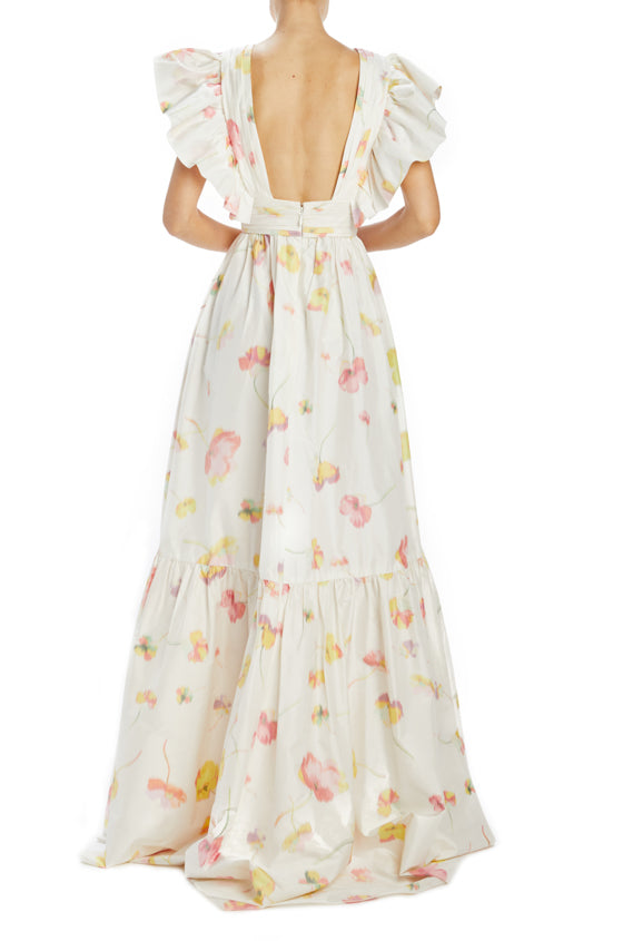Spring 2020 Floral Gown with open back