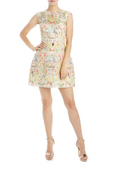 Paradise printed guipure lace dress