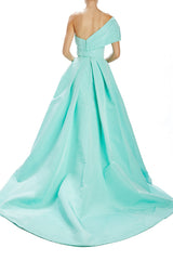 Mint Ball gown skirt with box pleats