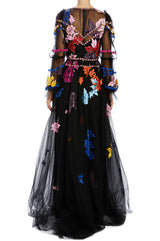 Spring 20 ML tulle evening gown