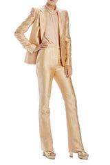 boot cut trouser gold