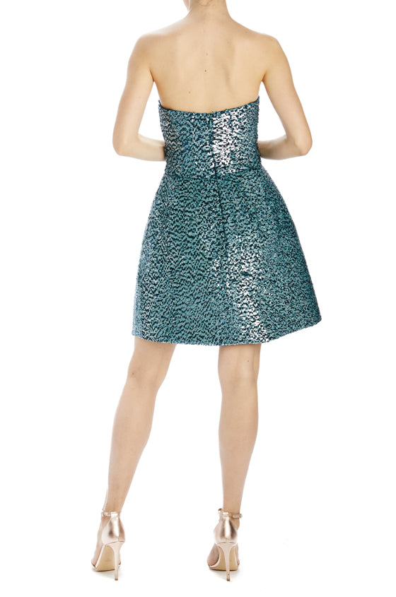 Strapless Sequin Dress with zipper in back