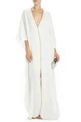 Caftan with beaded gold trim