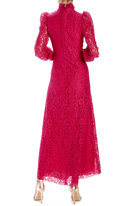 Spring 2020 Cocktail dress long sleeve fuchsia