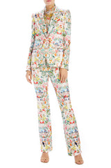 paradise printed fitter blazer monique lhuillier