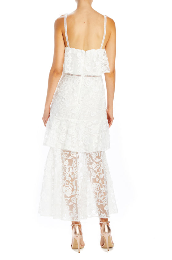Spring 2019 ML Monique Lhuillier Midi Dress