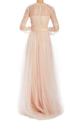 Spring 2020 tulle evening gown pink